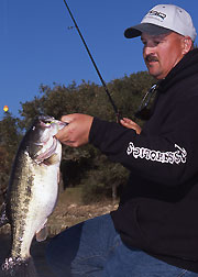 Photo: Bill Siemantel  Big Bass Zone co-author Bill Siemantel knows there are times when the bite is a numbers game.