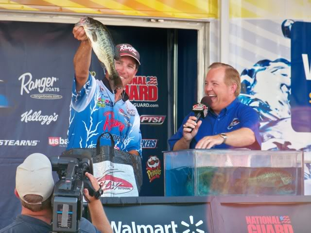 Zack Thompson, looking for a good finish, and in the hunt for Angler of the Year.