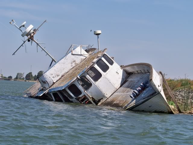 Boat wreck, there are many and not all are visible, especially at certain tides, go over one on the wrong tide and it could be serious