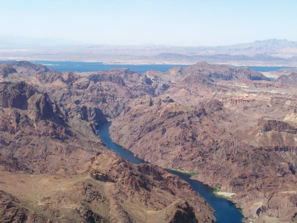 The Colorado River below Hoover Dam and the Boulder Basin