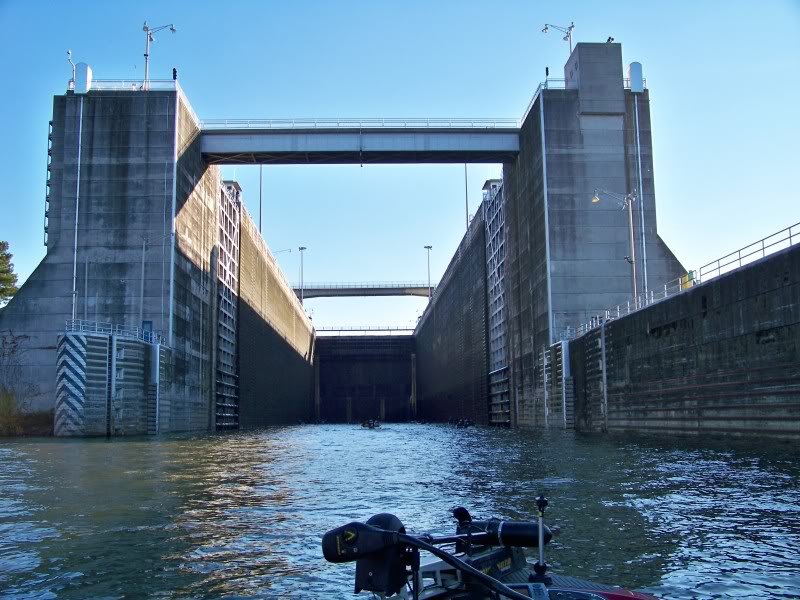 Wilson Dam, locking up to Wilson Lake