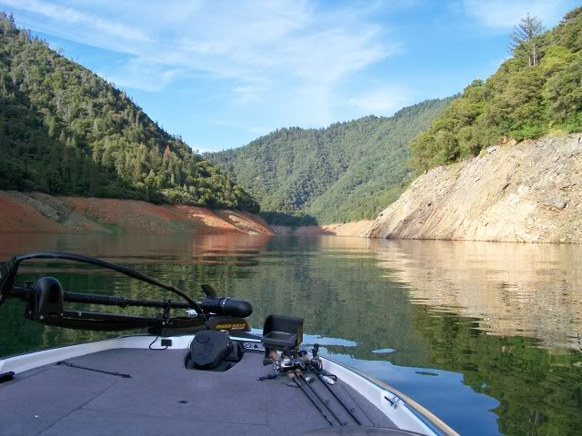 Heading up the North Fork with swimbaits on the deck