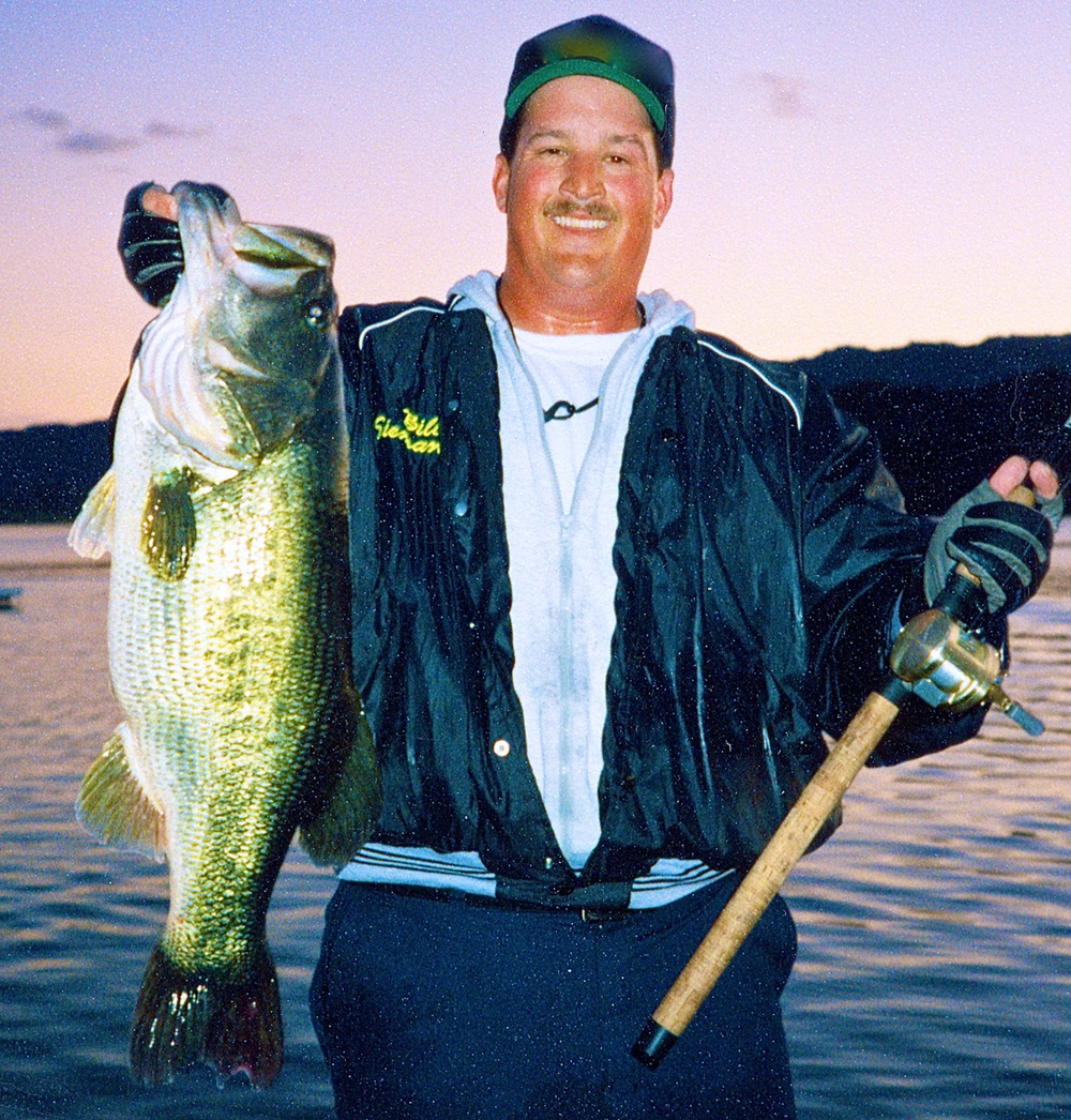 Bill Siemantel with a massive bass caught on his Tiger Tubes