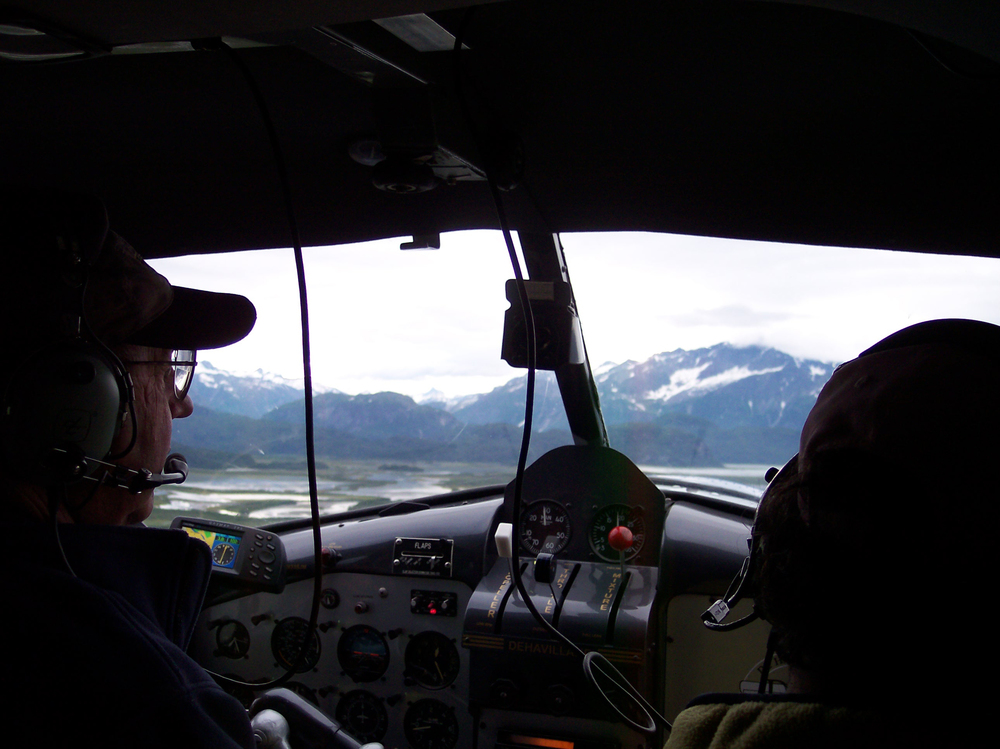 Floatplane ride east of the Cook Inlet southern AK, destination Wolverine Creek
