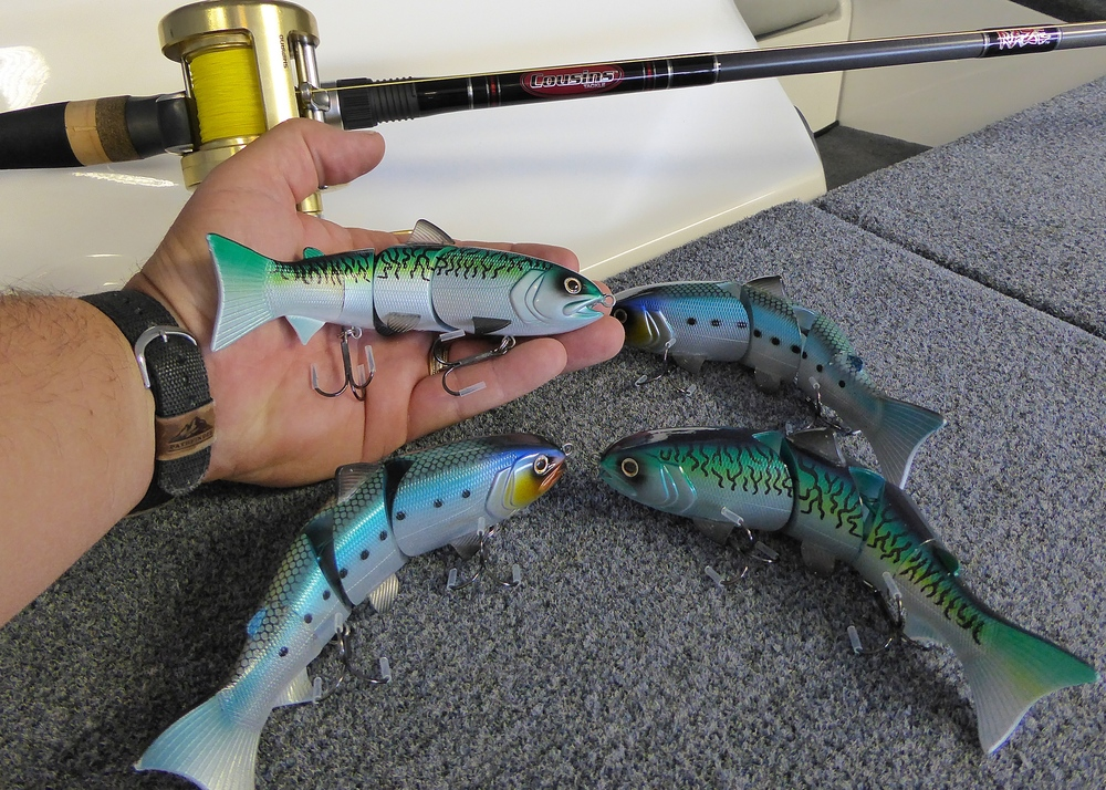 Here is a great photo that shows the size of these baits in my hand.