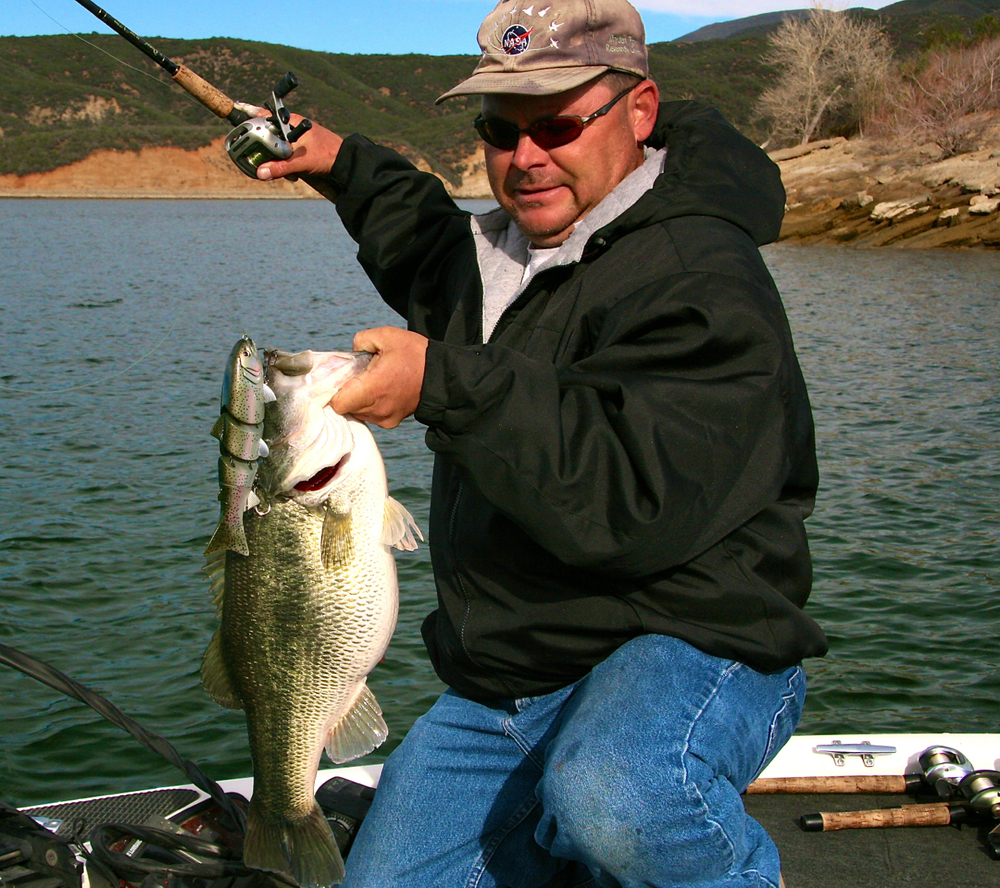 Walt Kondracki and his Swimbait Baby