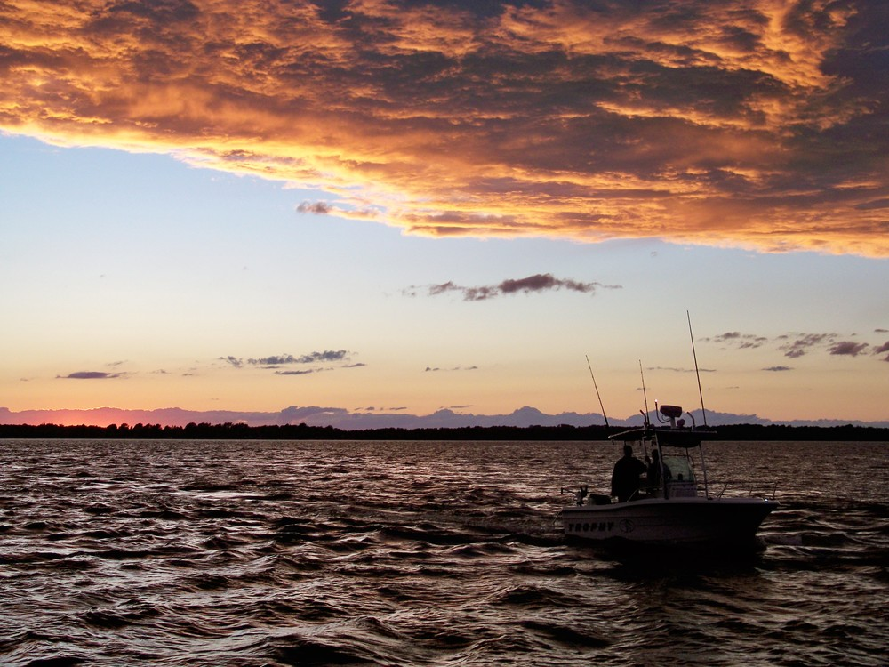 Champlain will reward you with beautiful sunsets.