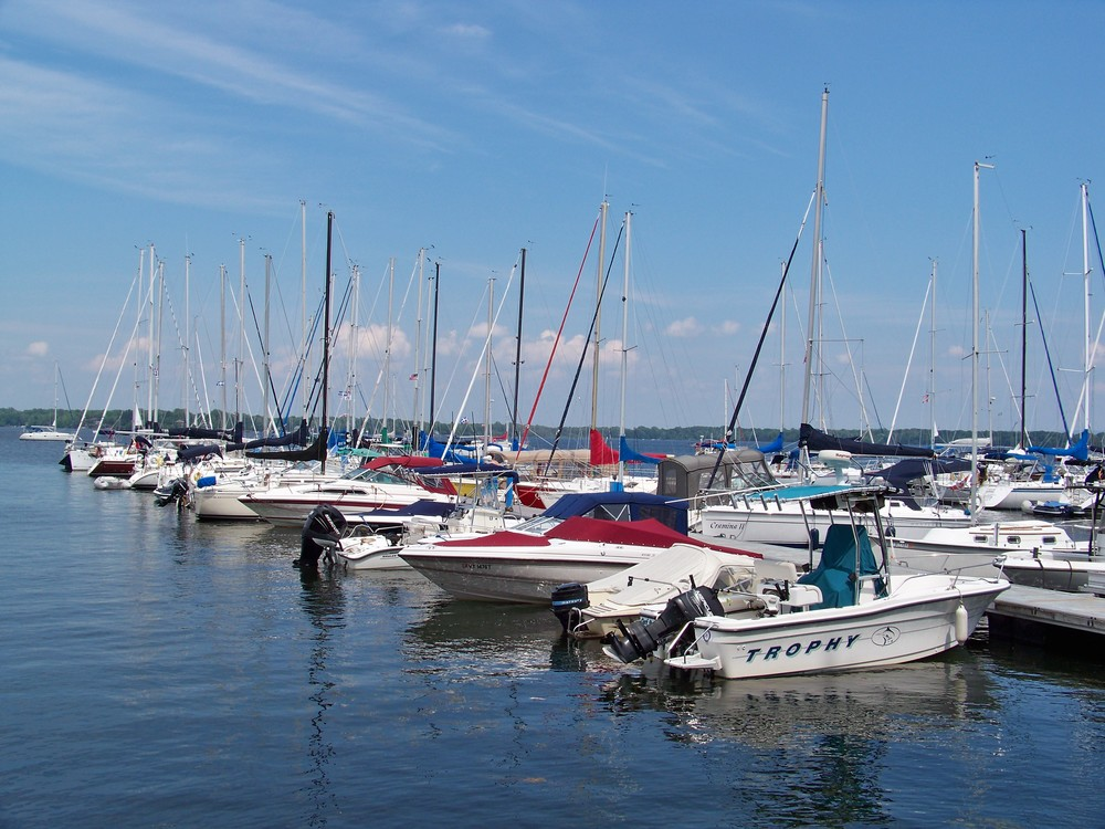 There is no shortage of docks on Champlain.