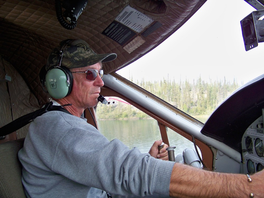 Our Float Plane Pilot. He looks experienced.