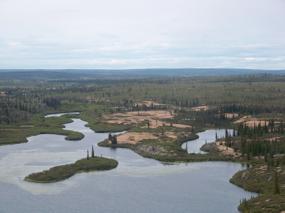 A shot of the area on this 45-minute float plane ride from Plummer's  Main Lodge to the Arctic Circle Lodge.