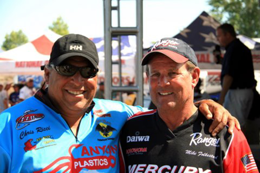 Chris Ricci and his mentor Mike Folkestad