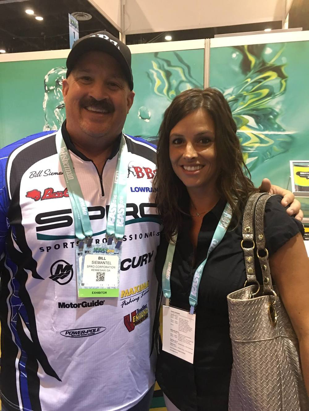 Sam making her rounds at this years ICAST 2016