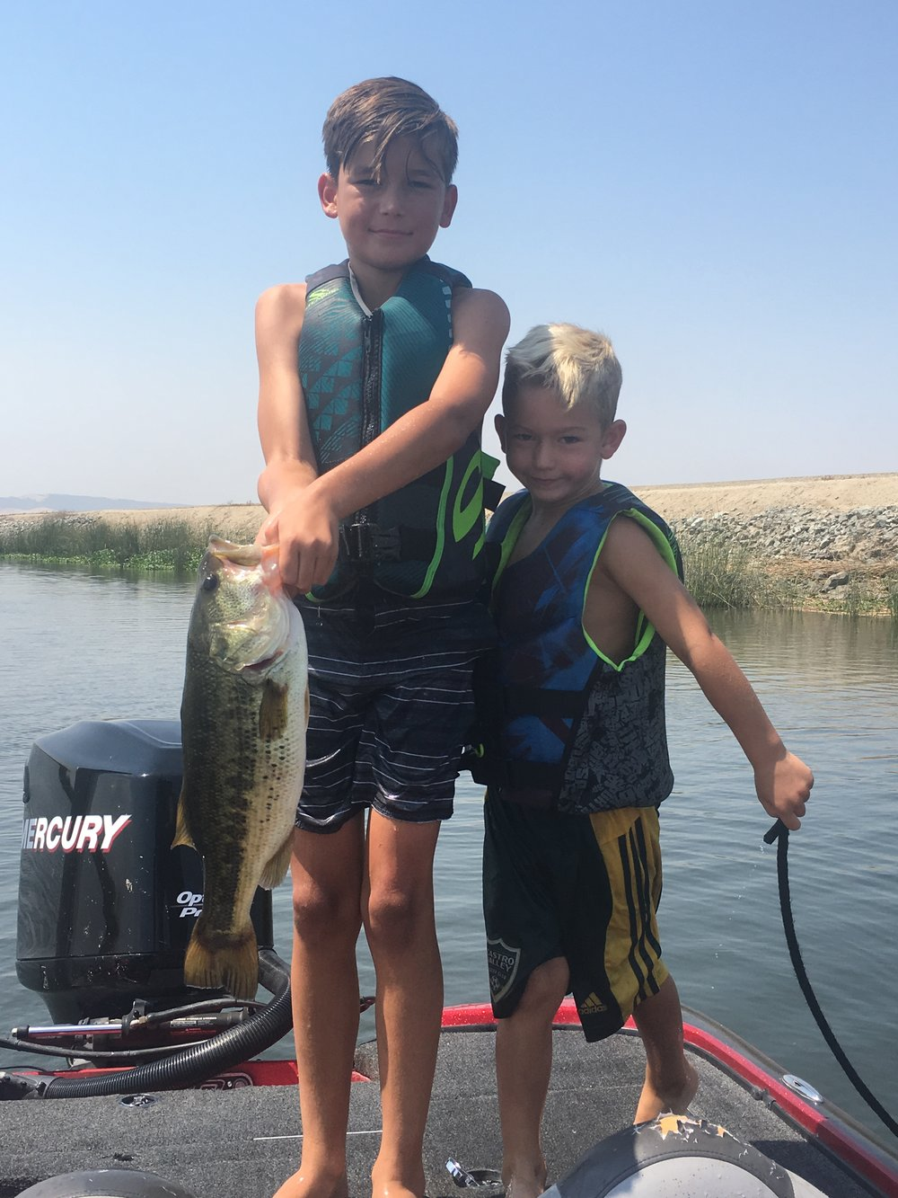 Brother Power: Ryders and Jax after the big catch (Jax was the net man)