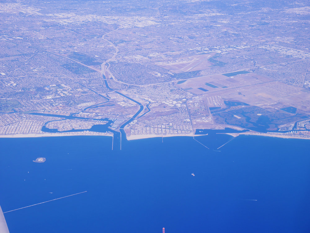 Left to Right; Belmont Shores, Alamitos Bay Landing, Seal Beach and Seal Beach National Wildlife Refuge.