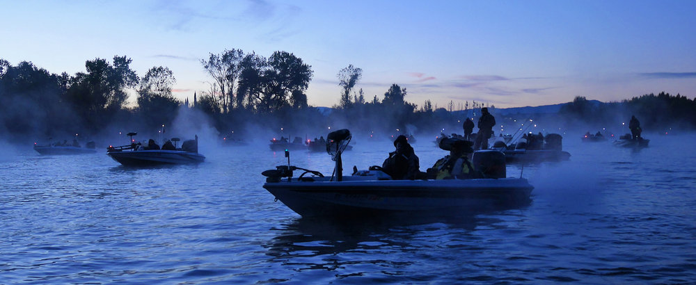 Team competition staging for the American Bass Team Classic Clear Lake California.