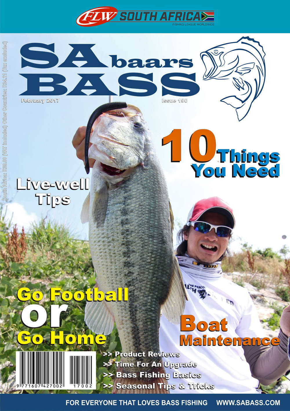 Pic. 1.  A big shout out to SA Bass for featuring my story on this month's front cover (image shot by Mr. Kang Hohyeong).