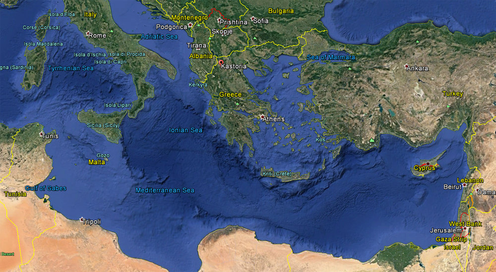 Map by Google Earth