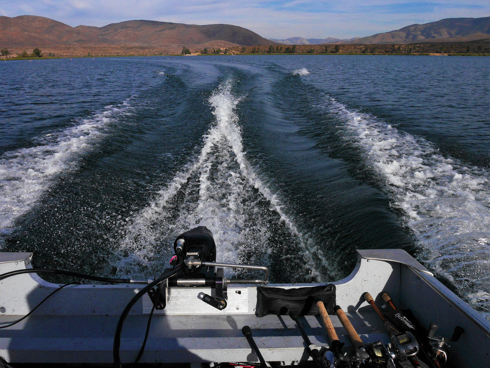 Quiet and clean, the Pure Watercraft outboard on the 'hunt' during a bass tournament.