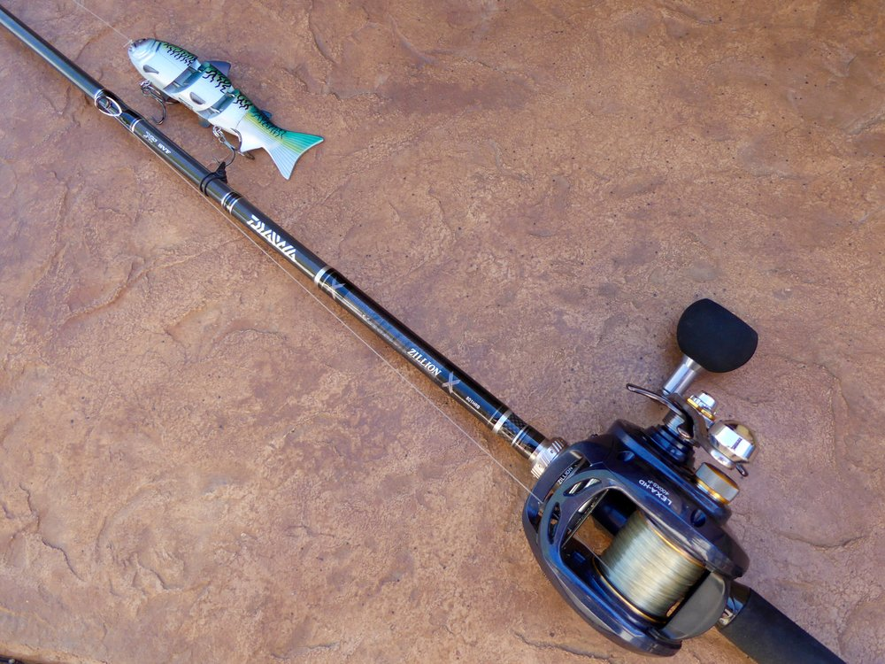 The authors argues upsized baitcasters and the proper sized rod and fishing line to generate more force on a reel-set. The Dawia setup above is a crossover system for both fresh and saltwater fishing.
