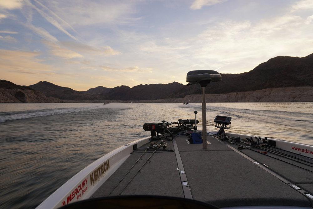 Morning take-off entering Lake Mead's Narrows.