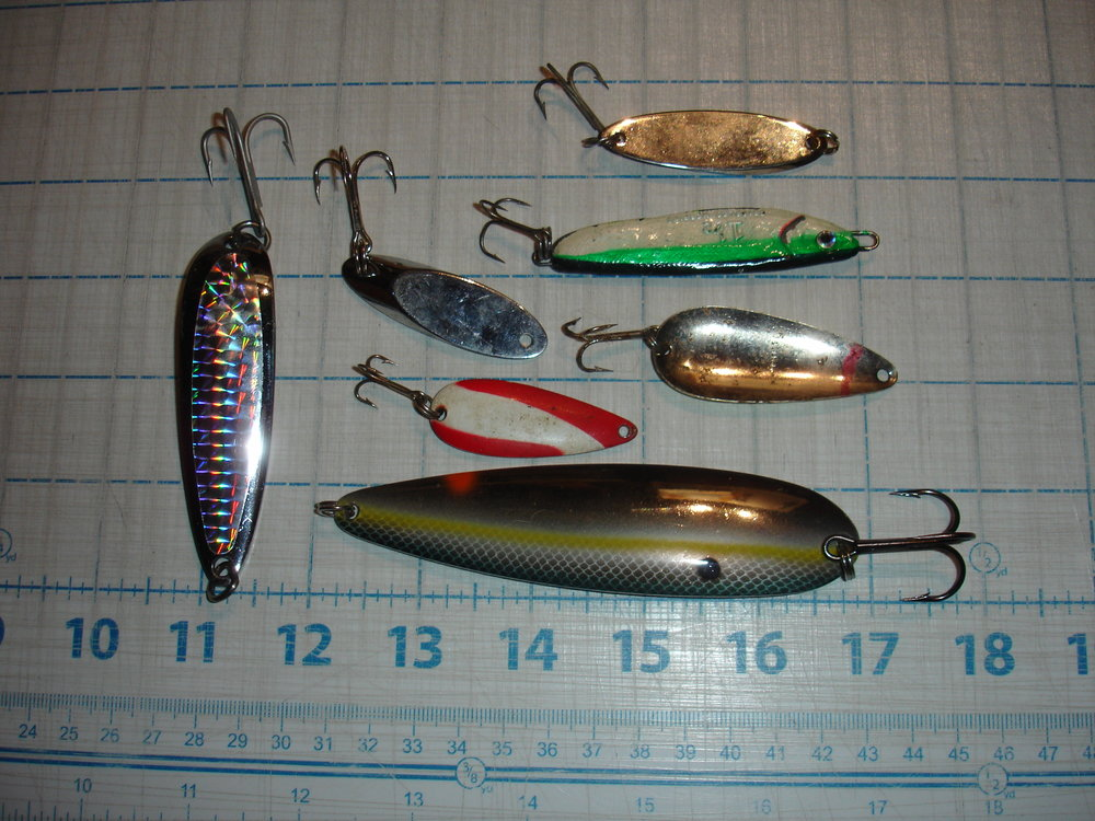 Handful of spoons that can be worked from top to bottom. Trolling to jigging these style will have you covered.