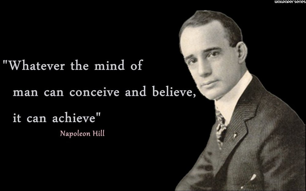 "Oliver Napoleon Hill  (born October 26, 1883 – November 8, 1970) was an American self-help author. He is known best for his book Think And Grow Rich    (1937) which is among the 10 best selling self-help books of all time. Hill's works insisted that fervid expectations are essential to improving one's life. Most of his books were promoted as expounding principles to achieve ""success""."