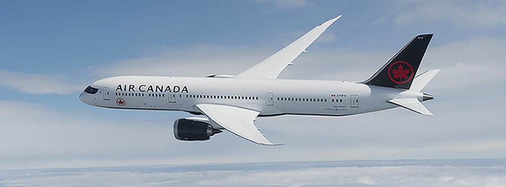 Air Canada Boing 787 Dreamliner, Los Angeles to Calgary