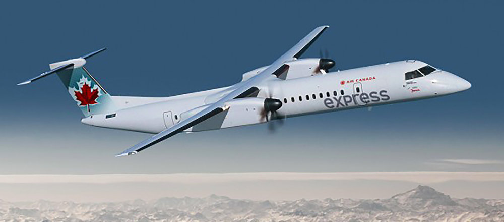 Air Canada Bombardier Q400, Calgary to Yellowknife