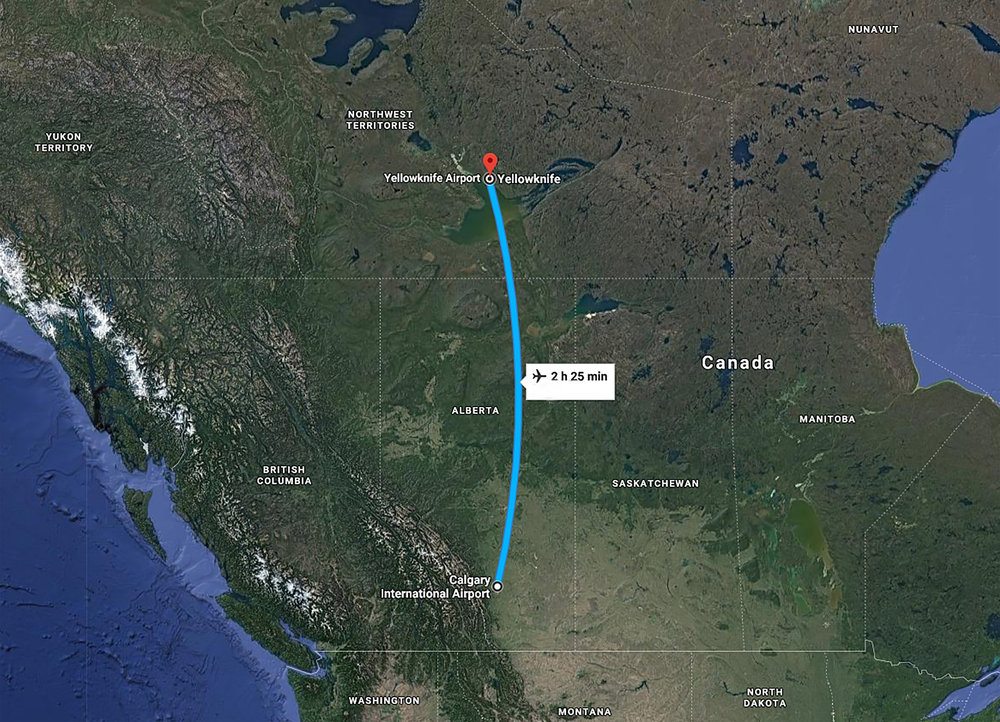 Calgary to Yellowknife