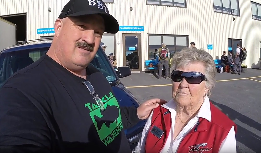 Yvonne with Bill Siemantel at the Yellowknife Airport