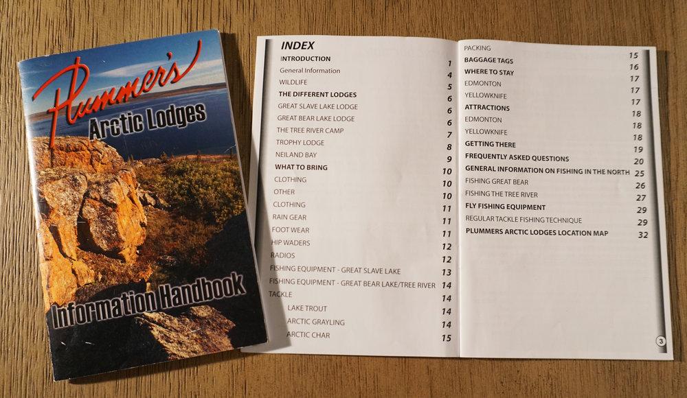 Plummer's Arctic Lodges Information Handbook