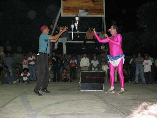 Outdoor performance in Ostuacan, Tabasco, 2008