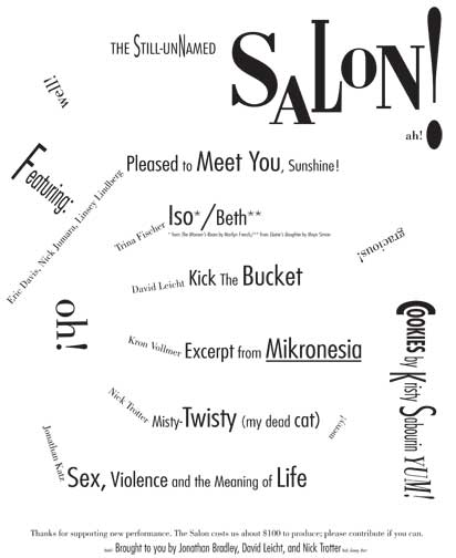 Program from The Salon