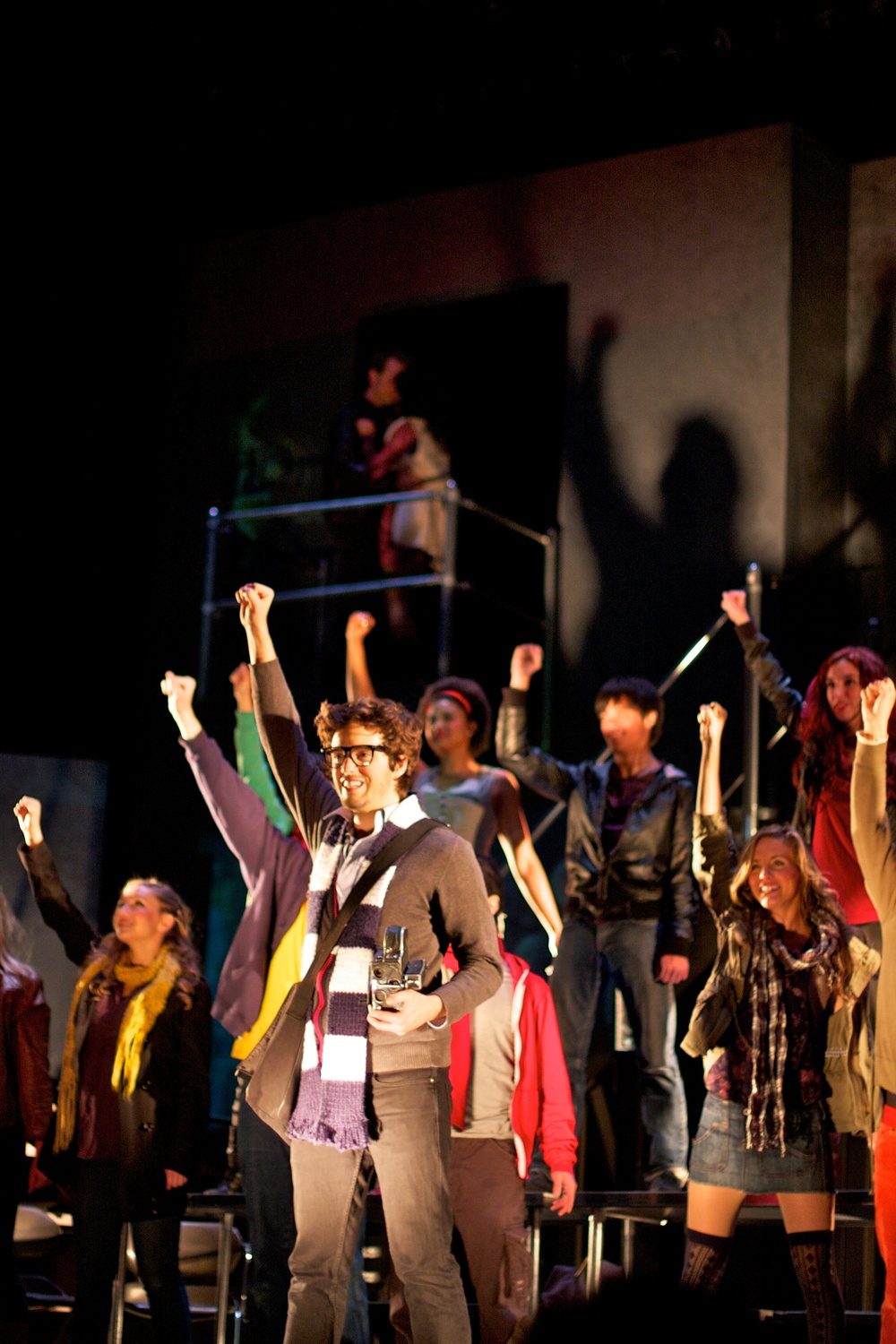 Cast of  Rent   Photo courtesy of Stephen M. Woo.