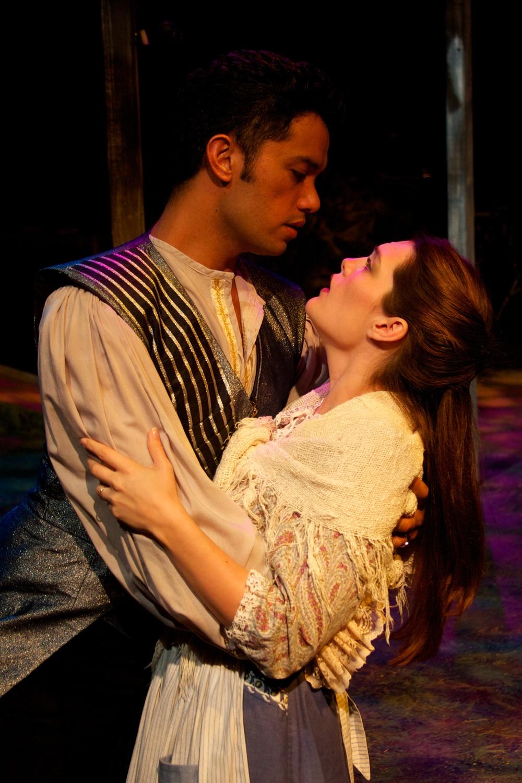 Cinderella's Prince (Kikau Alvaro) & the Baker's Wife (Julia Cuppy)  Photo courtesy of Stephen M. Woo.