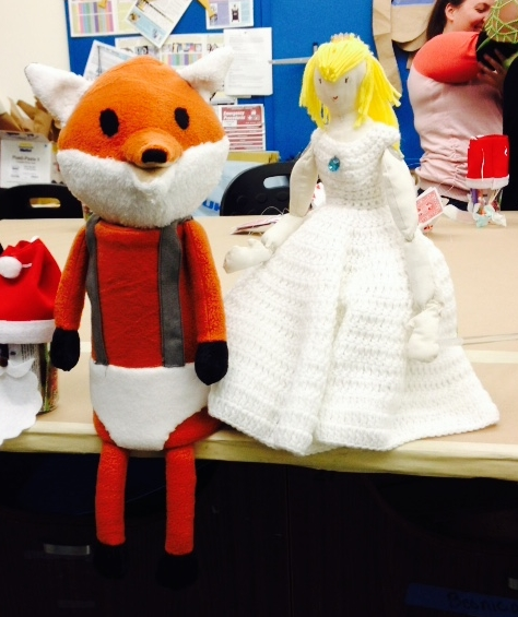 Leroy Fox puppet and friend.