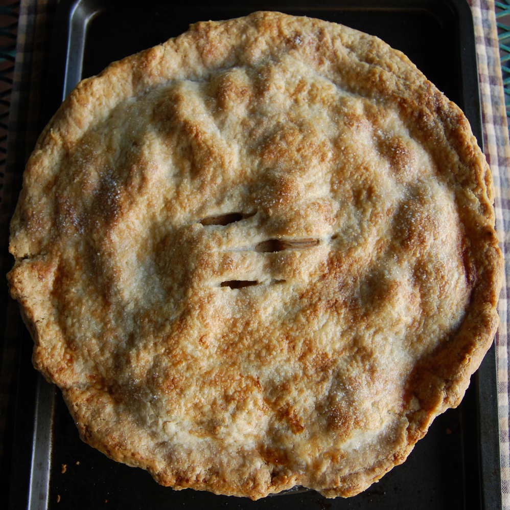 A DIY apple pie, fresh from the oven. It was delicious.