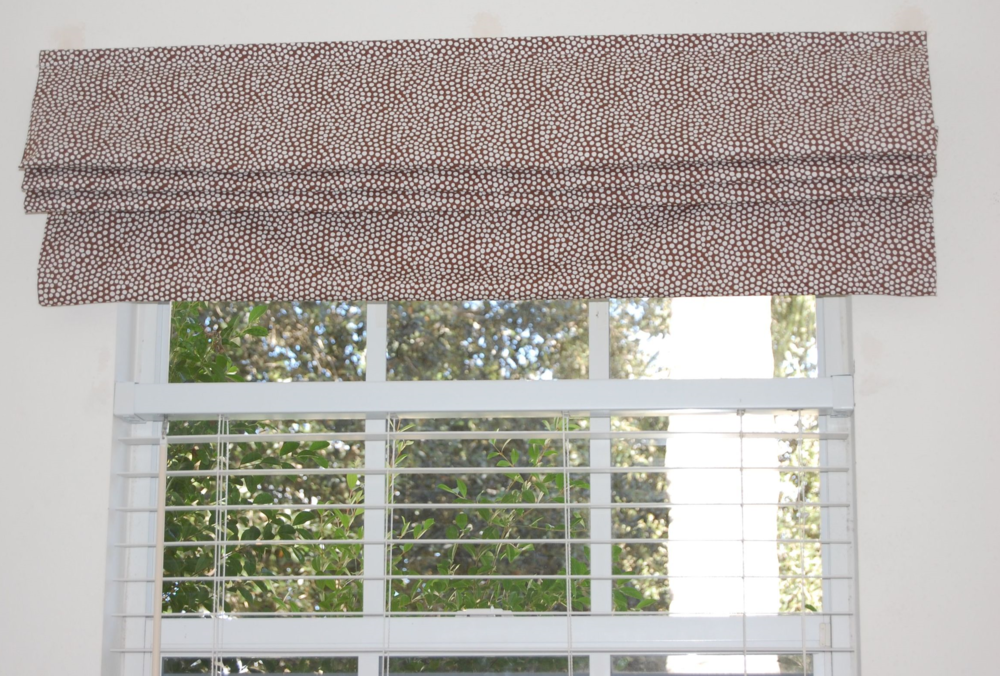 Cordless roman blind without 'valence' (all one length of fabric).