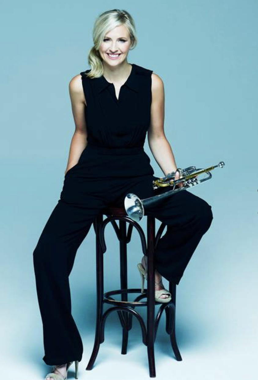 Taut and talented: Alison Balsom OBE has biceps. (Source: Ms Balsom's Facebook)