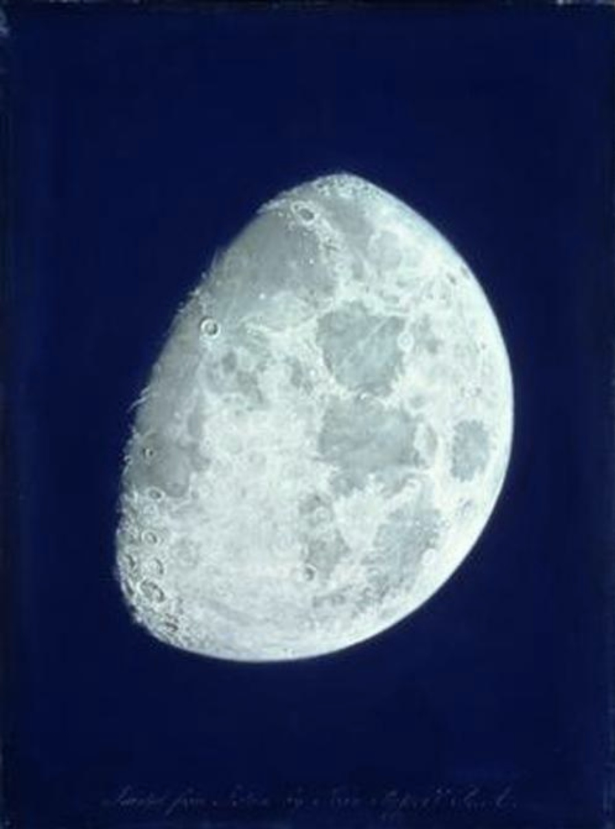 'The Face Of The Moon' by John Russell. Pastel on paper strained over a wooden stretcher. Birmingham Museums and Art Gallery