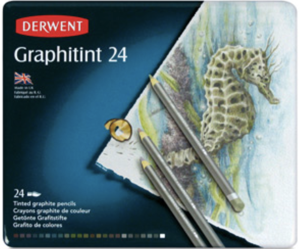 I love the Derwent 'Graphitints' -- tinted graphite pencils whose colours are activated by water. They really are the best of both worlds -- pencil and paint.