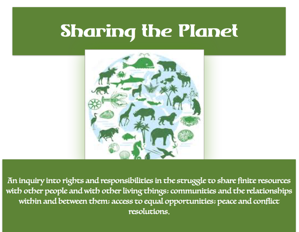 Kindergarten Music Unit 6: Sharing the Planet; April-June 2018