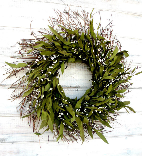 Eucalyptus Wreath on Etsy $62