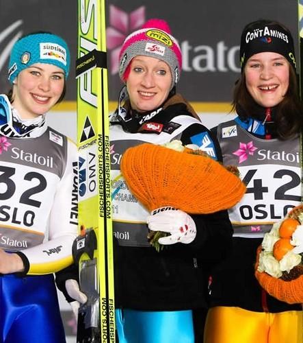 Austria's Daniela Iraschko wins 2011 World Championships.