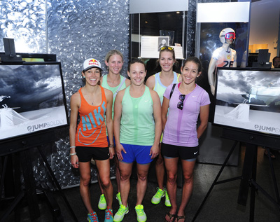 Sarah Hendrickson, Alissa Johnson, Lindsey Van, Abby Hughes and Jessica Jerome. Photo by Tom Kelly