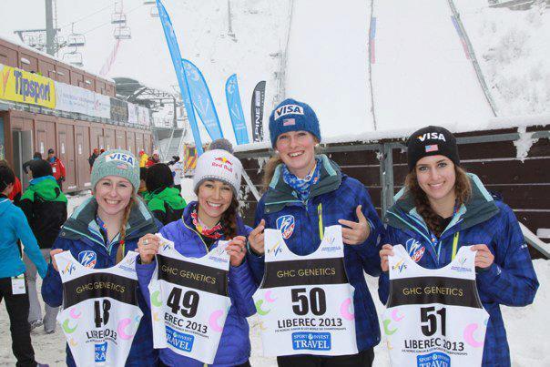 Emilee Anderson, Sarah Hendrickson, Nina Lussi, and Manon Maurer