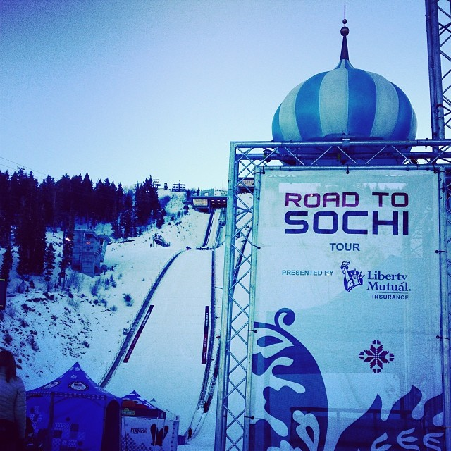The USOC's Road To Sochi Interactive Fan Zone at Utah Olympic Park. Photo by Abby Hughes.