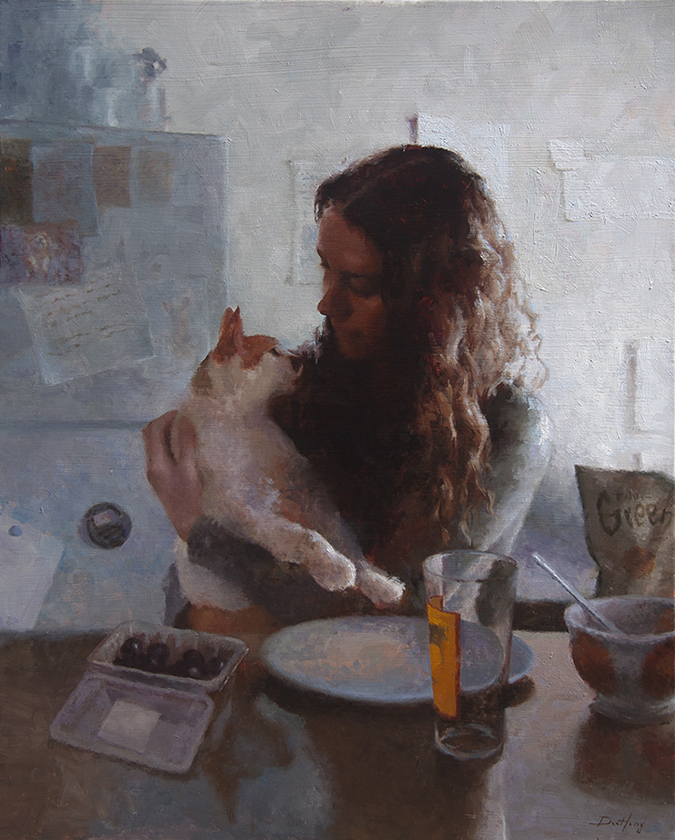 "'Brunch' Oil on Linen 30"" x 24"""