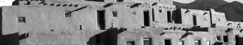 Clustered shelters, Taos, NM.