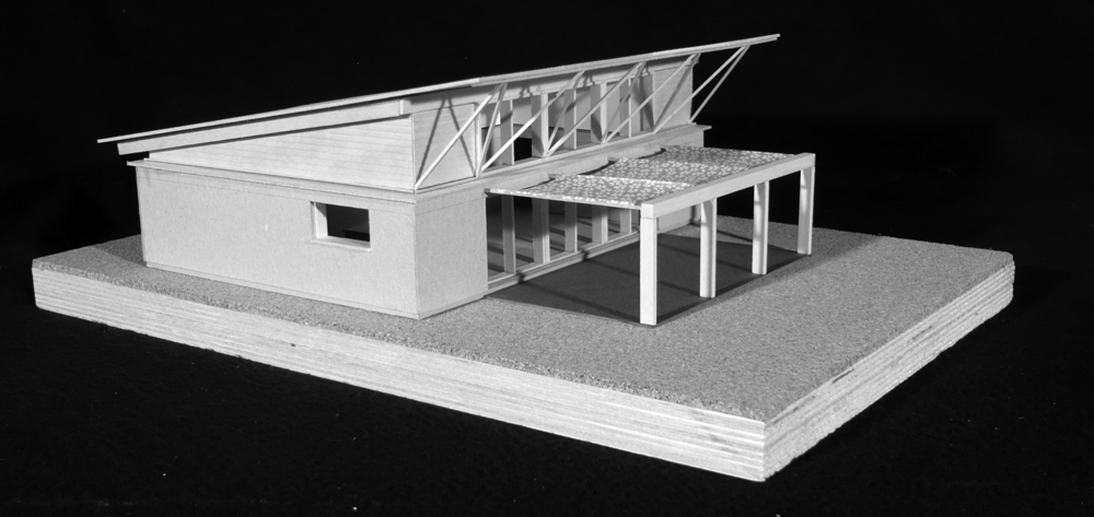Model of the 900 sf home.